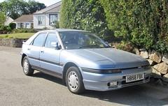 1991 Mazda 323F Executive. (occama) Tags: h858 fbx mazda 323f executive 1991 old cornwall uk japanese blue rare