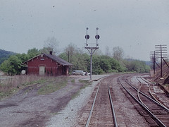 B&O station in Hancock, WV (CPShips) Tags: bo hancock 1976 station