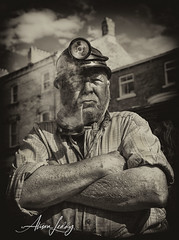 The Miner (Scarlet Poppy /Blyth Beach and Beyond) Tags: leyburn war weekend 1940s miner aged pipesmoker