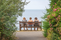 Three looking at out to sea (Aliy) Tags: whitstable tankerton kent sea three bench 3 sitting coast whitstableteagarden explored