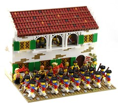 Heffrington's Inn, Port Woodhouse (Ayrlego) Tags: brethrenofthebrickseas bobs corrington redcoats lego portwoodhouse colonial parade