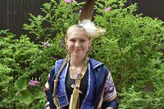 Wendake 7064 (jeanfrancoislaforge) Tags: wendake wendat tradition nikon d7200 powwow native bleu blue plume bijoux