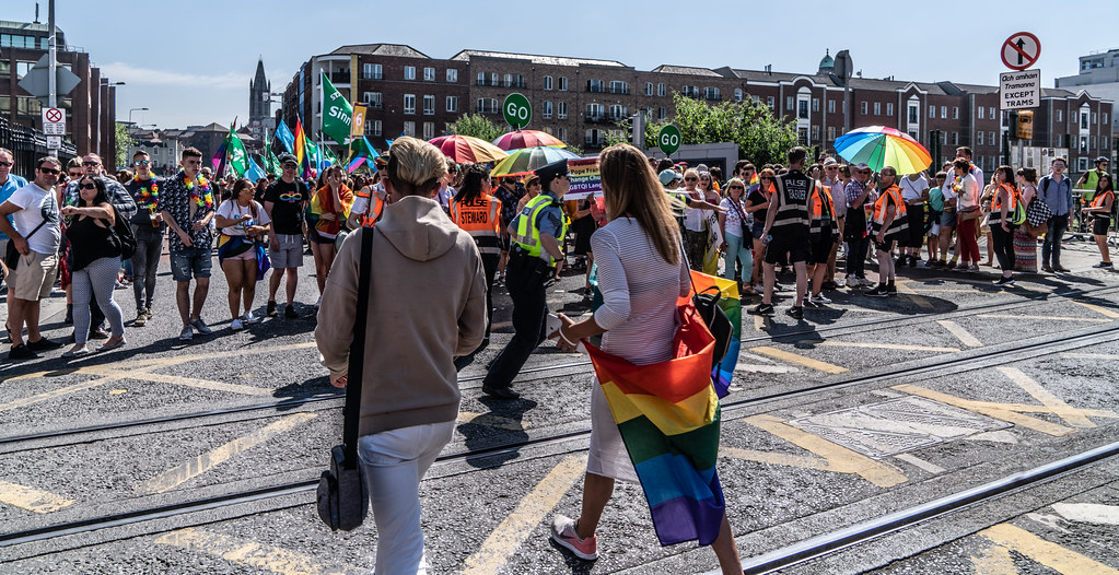 ABOUT SIXTY THOUSAND TOOK PART IN THE DUBLIN LGBTI+ PARADE TODAY[ SATURDAY 30 JUNE 2018] X-100077