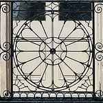 One of two wrought iron balcony railings (before 1800), the Confederate Home, Broad Street, Charleston, SC thumbnail