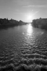 Backlight - Florence - June 2018 (cava961) Tags: river arno backlight analogue analogico monocromo monochrome bianconero bw florence