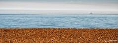 Layers (stewartl2010) Tags: sunny shingle westsussex calm thirds turbines sea minimalism windfarm shoreham colorefexpro4 sky seascape nikfilters beach letterboxformat lancing england unitedkingdom gb