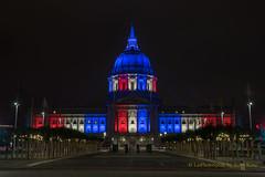 To celebrate Independence Day (letphotospeak) Tags: july4th independenceday usa celebration sanfrancisco cityhall nightphotos