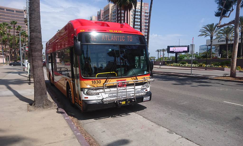 Long Beach Transit New Flyer D60lf 2312 In 2018 The Bus