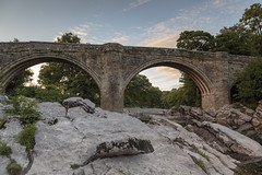 The Devil's Bridge (andyrousephotography) Tags: hippinghall kirkbylonsdale devilsbridge riverlune water rocks ands sorrymark sunset dusk pastel tones softlight