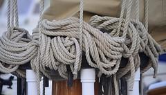 Roping (pjpink) Tags: rope curled dock boat boatinglife boatskills ropeskills beaufort northcarolina nc carolina crystalcoast may 2018 spring pjpink 2catswithcameras
