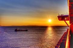Adriatic sea sunset (mtm2935) Tags: soe shore coast mediterraneansea aegeansea water ocean adriaticsea sunset