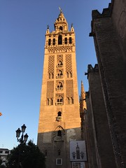 Giralda, at Sunset (Song Catcher) Tags: urban outdoor sky dusk building tower sevilla seville