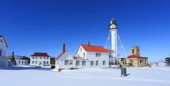 The wait was rewarded (GLC 392) Tags: proposal white fish point light house coast gaurd upper peninsula michigan paradise mi code blue sky winter perfect heaven snow up buildings lake superior life rewarded never same