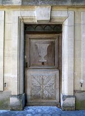 Carved wood door, Mane, Provence, France (Spencer Means) Tags: door doorway wood wooden carved carving front architecture mane provence france village building house dwwg