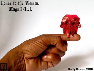 Honor to the Women Magali Owl - Barth Dunkan.