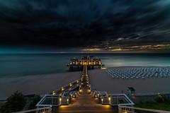 """Sellin Pier"" (Timo Rehpenning) Tags: trphotography travel longexposure sunrise balticsea balticcoast beach nikon d800 siruiw2204 siruik30x clouds vacation summer dramaticsky ostsee"