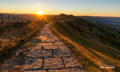 'Sun Path' (macdad1948) Tags: derbyshire mamtor factory peakdistrict sunrise ridge horse deer limestone castleton nationaltrust path flagstones nationalpark edale hopevalley