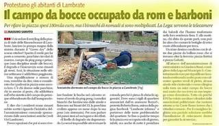 2018.07.12 - Il campo bocce usato per dormire - Libero