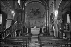 Eglise N&B_5190 (lucbarre) Tags: église de montégutlauragais hautegaronne eglise nef banc bancs intérieur noirblanc blackwhite