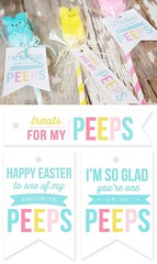 Basket Gifts : Quick and easy Peeps Pops with free printable gift tags. These make cute Easter … (giftsmaps.com) Tags: gifts