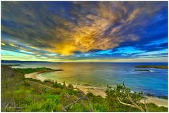 Fishermans Beach, Hill 60 (e0nn) Tags: pentax pentaxk1 ricoh steveselbyphotography steev steveselby hill60 portkembla ocean water waves sunset cloudsstormssunsetssunrises