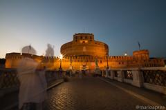 Castel Sant Angelo with Ghosts (Mario Aprea) Tags: mario aprea castelsantangelo castello monumenti roma sera notte street cielo sky building architettura edificio persone city città