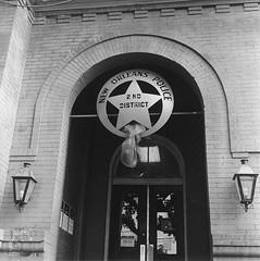 Police Station (bongo najja) Tags: orleans new evs mx 35 rolleiflex 400 iso tmax kodak