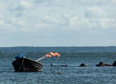 Zicker See (schmidtvossloch) Tags: ostsee rügen boot wasser himmel wolken fischer