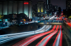 geary boulevard flow (pbo31) Tags: sanfrancisco california city urban july summer 2018 boury pbo31 nikon d810 night dark black lightstream motion roadway traffic japantown geary boulevard over bridge infinity red