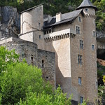 Château médiéval (XIIe-XVe), Larroque-Toirac, Quercy, Lot, Occitanie, France. thumbnail