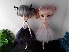 Tutus de ballet (Lunalila1) Tags: doll groove pullip alice dujardin handmade tutu ballet ballerina bailarina dance outfit 16 scale mad hatter steampunk world