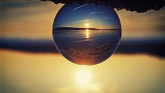 Golden Sunset (paul.wesson) Tags: atlanticcanada canada closeup day eastcoast easternpassage explorecanada explorens fuji fujixt1 goldenhour igcanada igersnovascotia imagesofnovascotia landscape lensball novascotia ocean ohcanada reflection sunset visitnovascotia water yhz ns