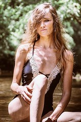 "I was told, ""Reminds me of Kate Moss.""whoah! (Mary-Mel Knight) Tags: photoshoot feminine femaleportrait female swimwear watershoot nature editorial visualsoflife model katemoss"