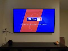 MLB.TV (Whistler Whatever) Tags: tv television led hdtv uhdtv 4k samsung wall mount wireless no wires internet mlbtv baseball commercial break commercials tmobile minimal rubberduck