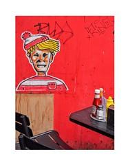 Ketchup and Mustard ... (junepurkiss) Tags: ketchup mustard streetart camden london