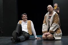 En la imagen se puede ver a varios protagonistas en un momento de la actuación.  Fotografía cedida por el fotógrafo local Óscar Blanco Gutiérrez
