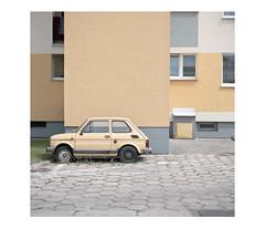 *** (dzarro72) Tags: urban mundane street car fiat 126p square puławy digital panasonic lumixlx100