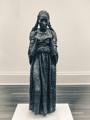 Sir Jacob Epstein's The Visitation (1926) (Steve Taylor (Photography)) Tags: sirjacobepstein thevisitation 1926 ponytails sad art digital sculpture eerie metal bronze woman lady uk gb england greatbritain unitedkingdom london vigenette texture tatebritain tate