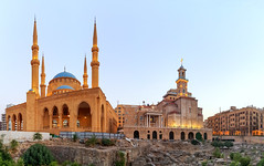 Happy Friday ! / Beirut, Lebanon (Frans.Sellies) Tags: 20170913185615stitch6x beirut lebanon mosque church cathedral libanon liban لبنان