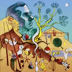 Daily Art - Day 04-20-18 (hinxlinx) Tags: joan miro artist surreal miró harlequin farm carnival hitler adolf