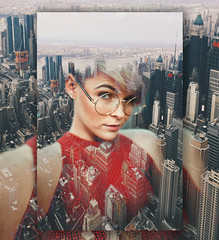 Those Looks (seekerofeast) Tags: girl woman hair color city building road car bridge eyes eye portraiture modern nature adobe photoshop exposure outside newyork new york august cityscape dusk second flickr sunrise sunset light day contrast texture art ngc