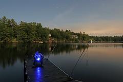 thinking on the dock (scienceduck) Tags: 2017 scienceduck muskoka lake lakemuldrew muldrew dock night light lightpainting me moi