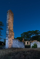Educational Ruins (Nocturnal Kansas) Tags: night nocturnal fullmoon flashlight led1 protomachines texas college lightpainting nightphotography