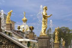 Palacio de Peterhof (kinojam) Tags: peterhof sanpetersburgo rusia escultura oro gold fuente agua travel kino kinojam canon canon6d
