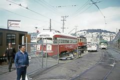US CA San Francisco MUNI 1704 6-1987 Peter Ehrlich Photo (David Pirmann) Tags: tram trolley streetcar transit california ca sanfrancisco muni marketstreetrailway pcc