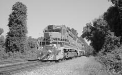 Local At The Interchange (DJ Witty) Tags: marylandmidland sd402 sd45 rr photography railroad blackwhite bw film emorygrove maryland usa