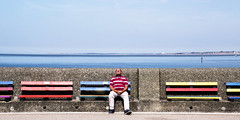 stripes (Nigel_G) Tags: stripes bench newbrighton wirral coast seaside summer merseyside