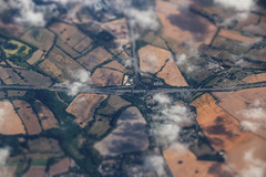 UK Mini Junction (Andy.Gocher) Tags: andygocher canon100d canon100dsigma18250 canon europe uk england motorway junction fields miniaturemode minimode tiltshift clouds windowseat aeroplaneseat aeroplanewindow aerial