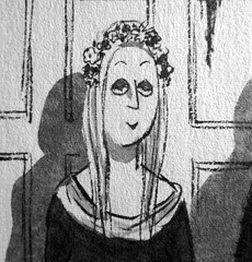 Ophelia Frump - Addams Family cartoon by Charles Addams 6252 (Brechtbug) Tags: cousin ophelia frump addams family by charles chas cartoon cartoonist eccentric holiday evil creature monster frankenstein like mask costume creatures vamp undead patchwork man monsters toy toys valet servant retainer manservant nanny domestic rubber alligator crocodile portrait disguised carolyn jones nyc 2018