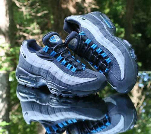 Nike Air Max 95 Anthracite Medium Grey Blue 609048 052 Men's